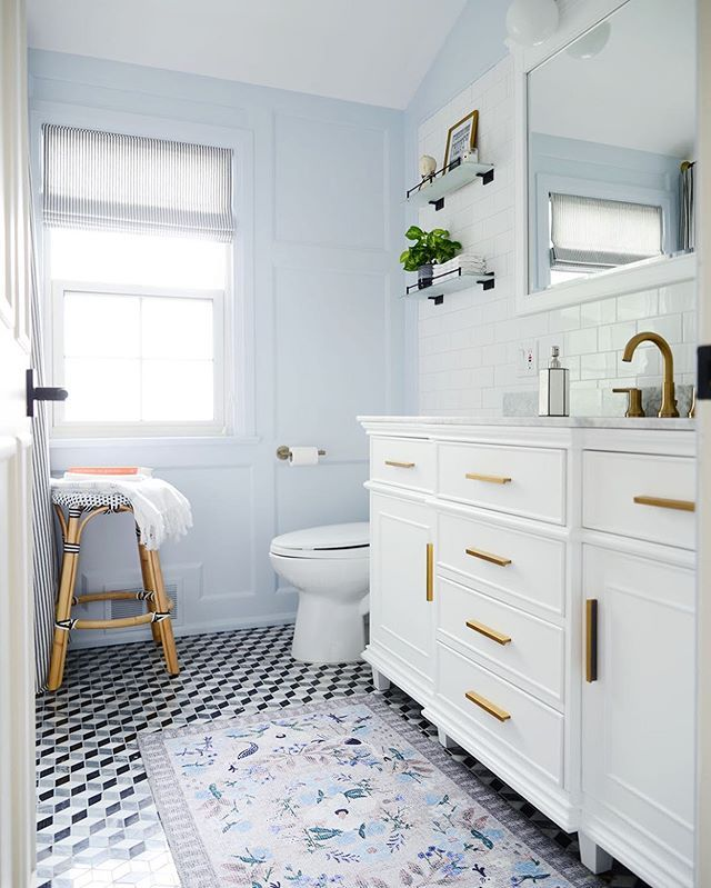 Do You Feel More Energized In September Maybe Its A Sense Of Freedom Once The Kids Go Back To Schoo Blue Bathroom Light Blue Bathroom Bathroom Interior Design