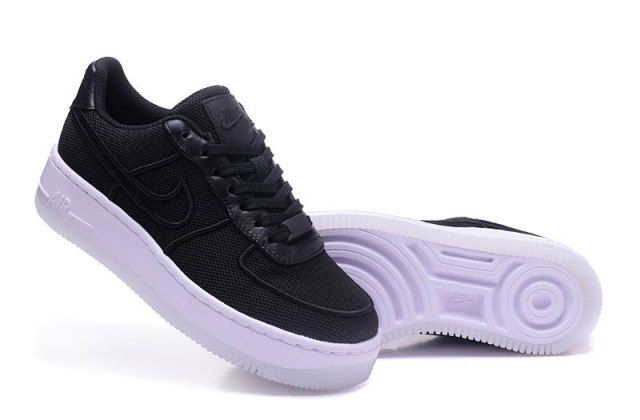 new product 888f7 7c752 Mens Womens Nike Air Force 1 Low Upstep BR Black White 833123 003 Running  Shoes