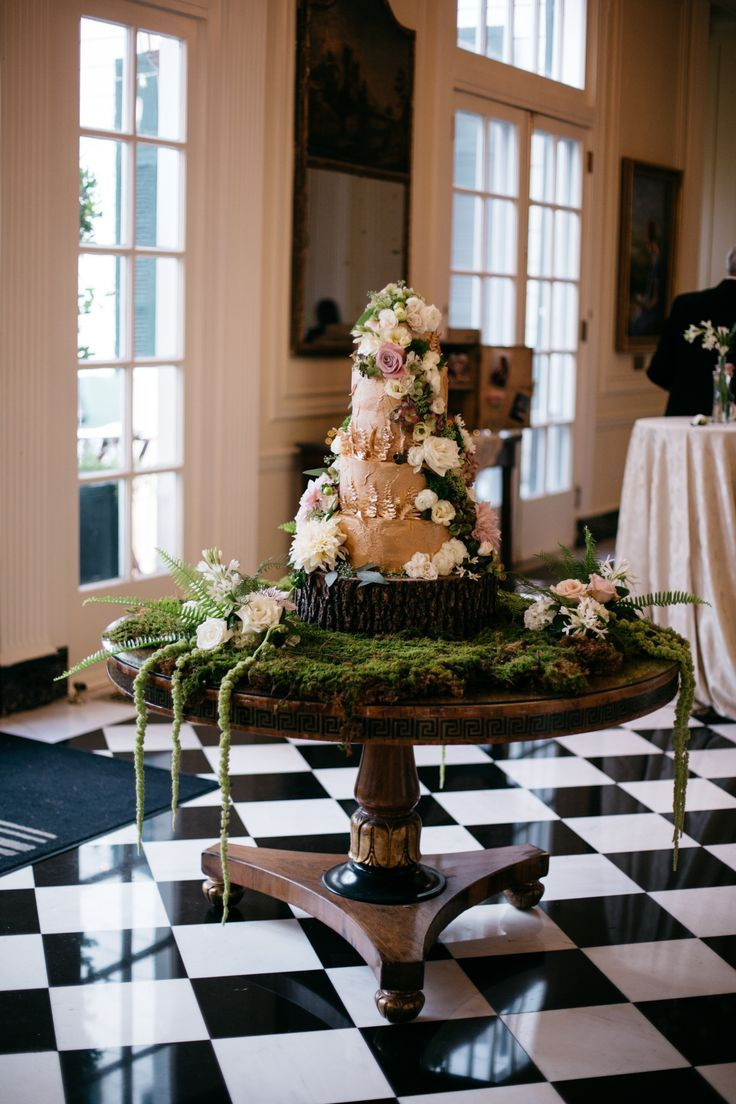 Whimsical Enchanted Forest Wedding Cake | The Skys the Limit Bridal Sweets | The Place for Flowers | The Duke Mansion | Grain and Compass | It actually tasted just as good as it looks!