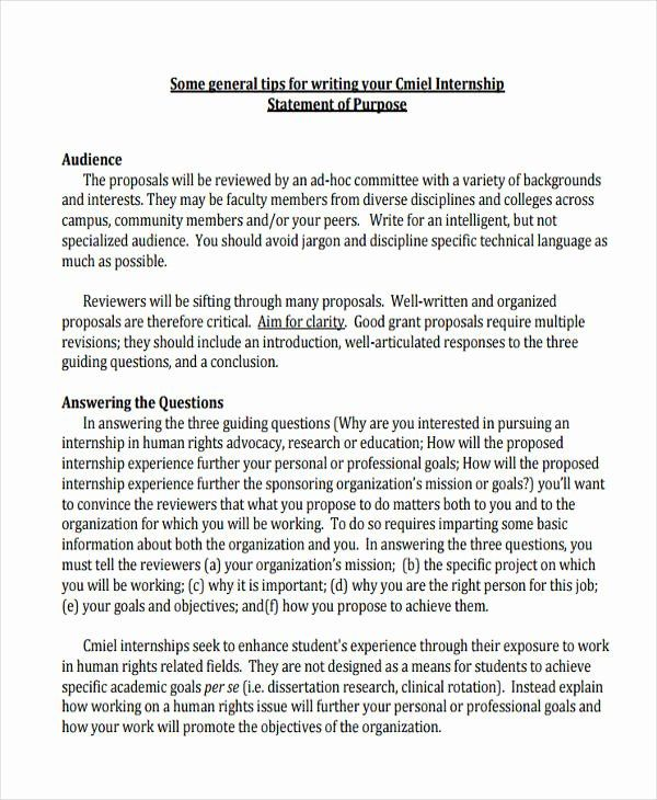 Statement Of Goals Example Beautiful Free 11 Statement Of Purpose Examples Samples In Pdf Problem Statement Personal Mission Statement Letter After Interview