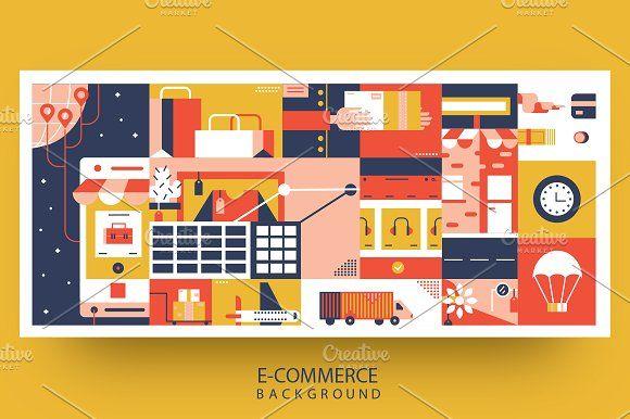E Commerce Online Background Abstract Backgrounds Shop Illustration Shop Vintage Decor Ecommerce background images for online