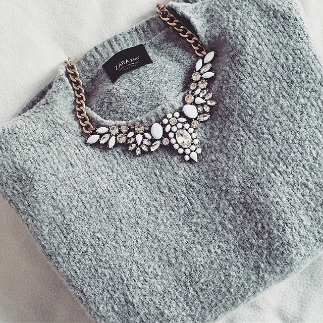 Snow White Statement Necklace - #fashion #fashionista #trendy #style #ootd #necklace #jewelry - 24,90 @happinessboutique.com