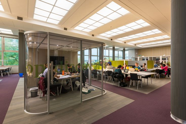 University of Reading - Library: Vista pod, Vitra Joyn desk, Vitra .03 chairs and Space oasis sage.