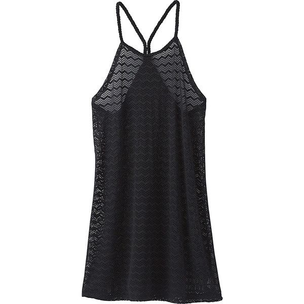 PrAna Page Dress - S - Solid Black - Dresses (4,510 INR) ❤ liked on Polyvore featuring dresses, black, halter neck dress, halter dress, chevron striped dress, strap dress and woven dress