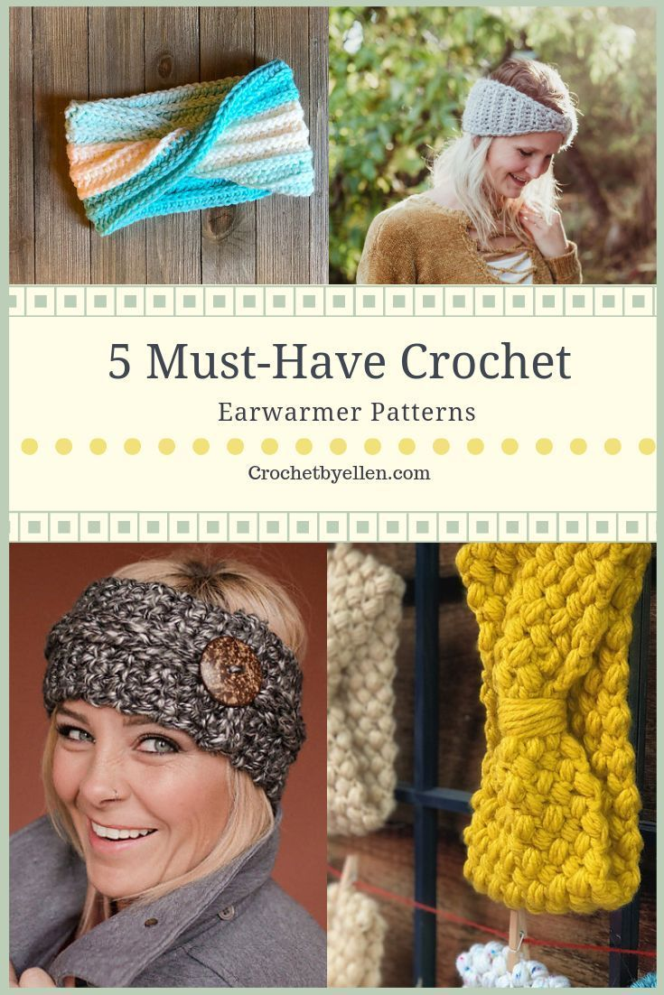 Easy Crochet Earwarmers Crochet Headbands Earwarmers Fall