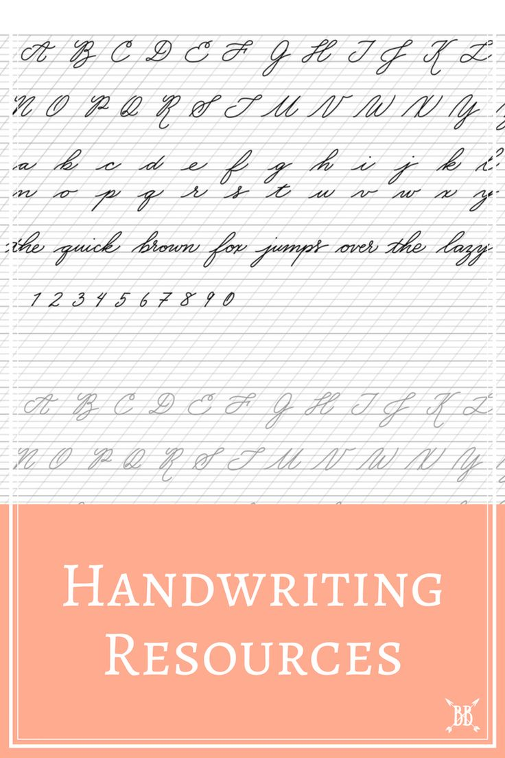 Today I'm sharing some of my favorite resources for improving your handwriting! Won't you join me?