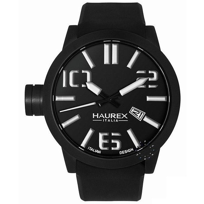 HAUREX TURBINA Black Rubber Strap, μόνο 178€ http://www.oroloi.gr/product_info.php?products_id=27502