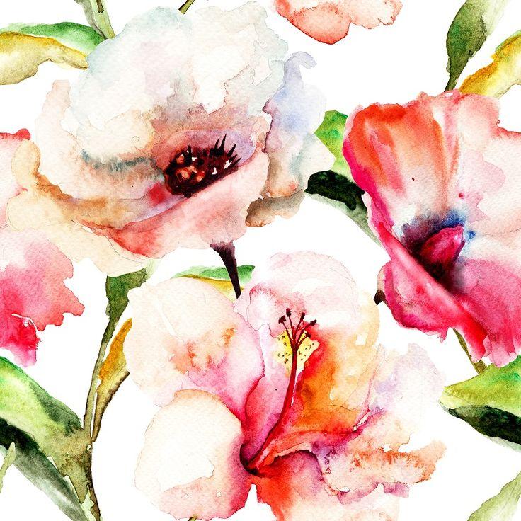 Delikatne, malowane, idealne do sypialni. #flowers #malarstwoa #kwiaty #fototapeta #fototapeta24pl http://www.fototapeta24.pl/