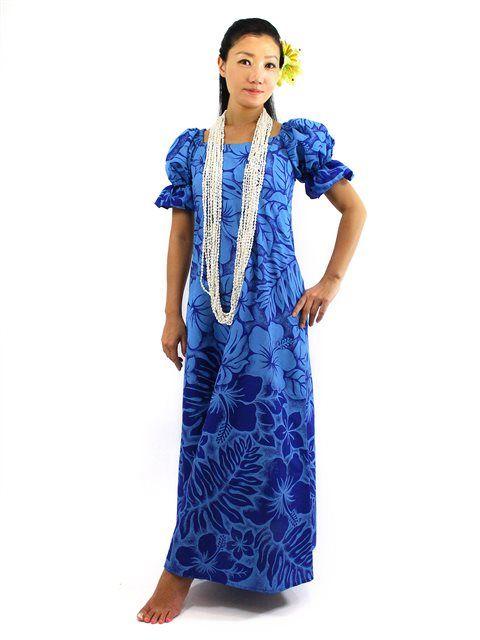 Hawaiian dress from hawaiian dresses muumuu for for Hawaiian wedding dresses with sleeves