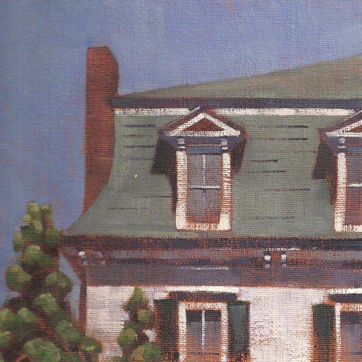 "Mansard Roof"" 6x6 Oil On Board $200"