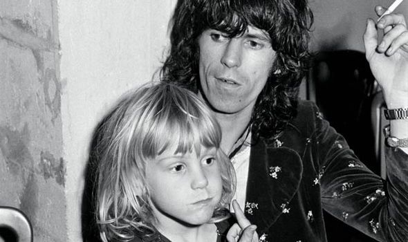 keith richards, rolling stones, fatherhood, patti, marlon, alexandra and theodora, rock 'n' roll dad