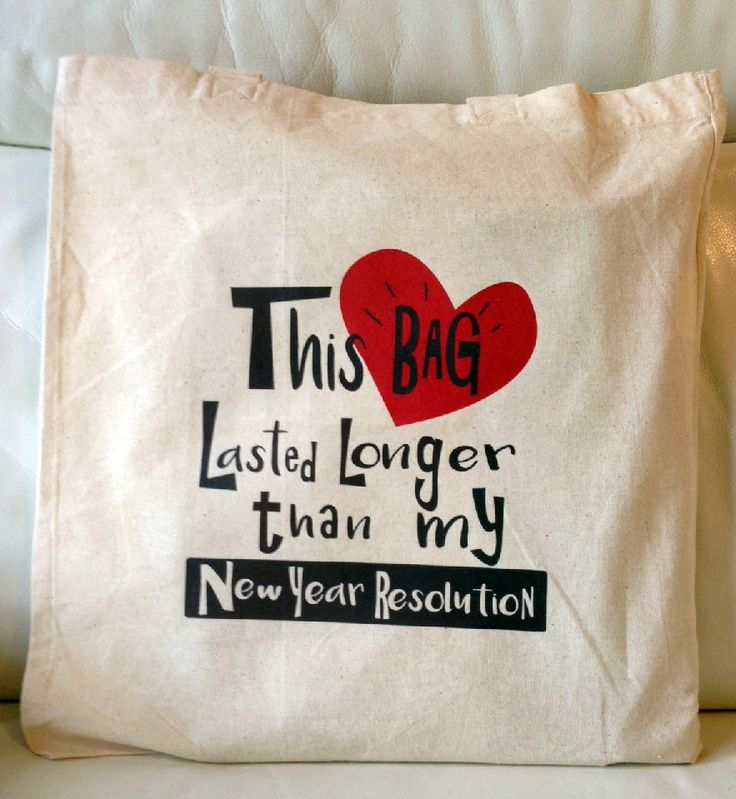 This Bag Lasted Longer Than My New Year Resolution Funny Canvas Tote Bag by JafNMac on Etsy