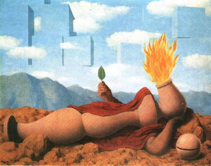René Magritte - Elementary cosmogony, 1949. Oil on canvas.