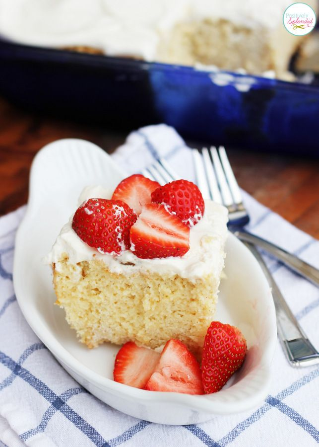 Tres Leches Cake Recipe - My new favorite cake recipe, hands down!