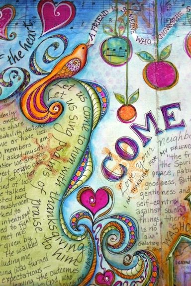 Visual Blessings- a great idea for making your own journal for growing your thoughts. MamaPat