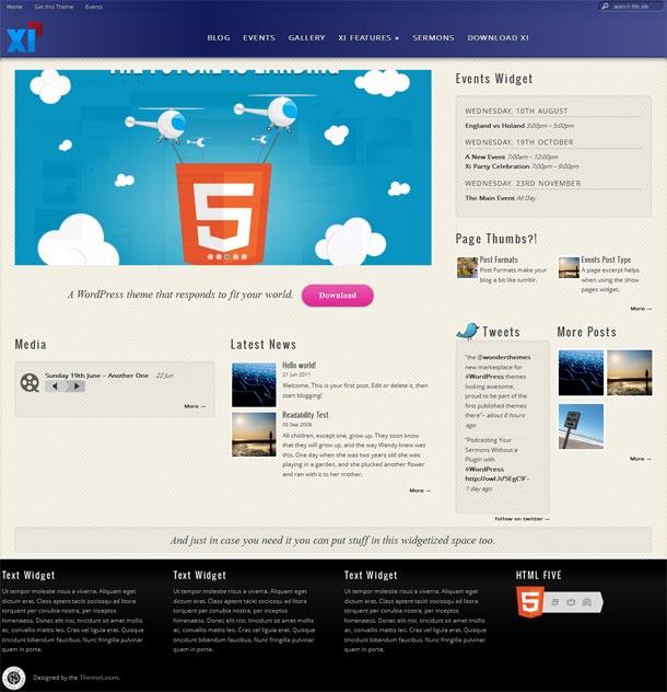 Xi WordPress Theme is a holy premium church WordPress theme from Theme Loom