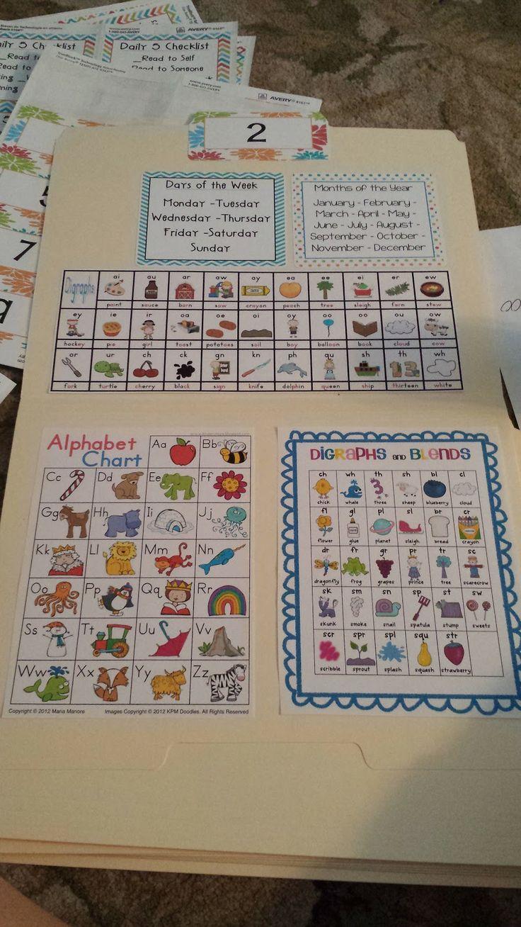 Kindergarten Calendar Folders : Best ideas about take home folders on pinterest