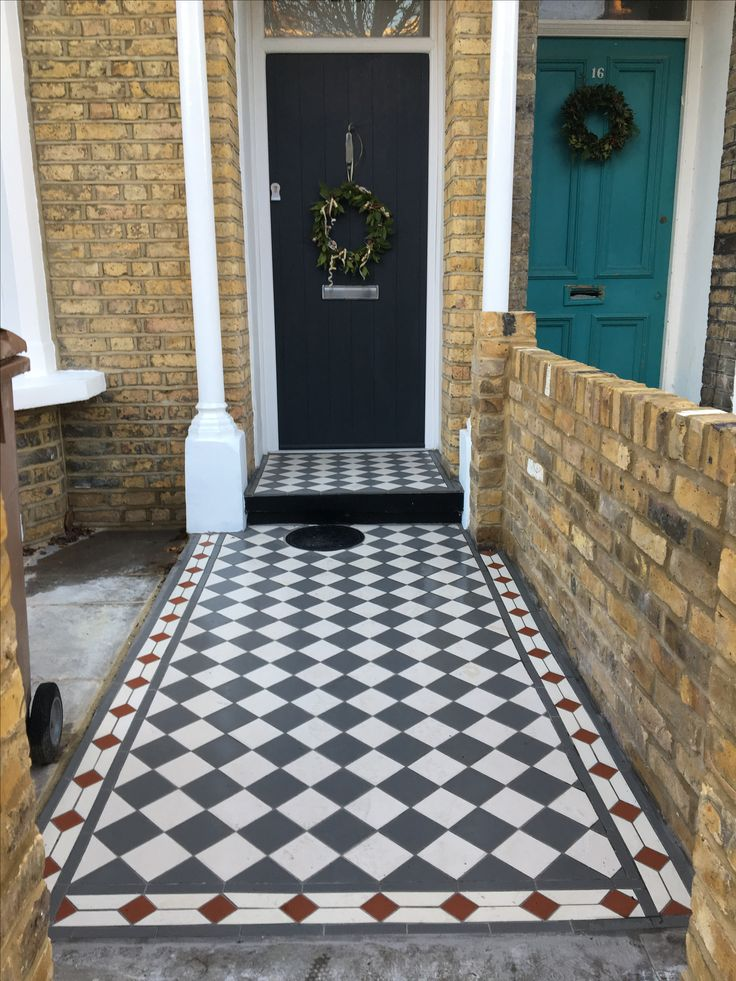 Front path and grey front door