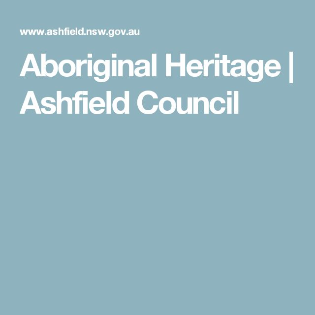 Aboriginal Heritage | Ashfield Council