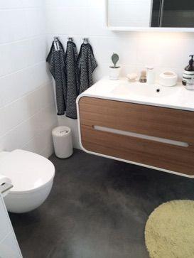 Betong i badrum Lägg själv eller genom hantverkare Läs mer på www.designgolv.com Designgolv betonggolv betongväggar