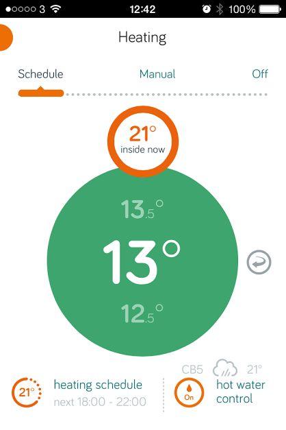 Hive Thermostat App