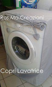 Copri Lavatrice o Asciugatrice in Stoffa Fatto a Mano su Misura