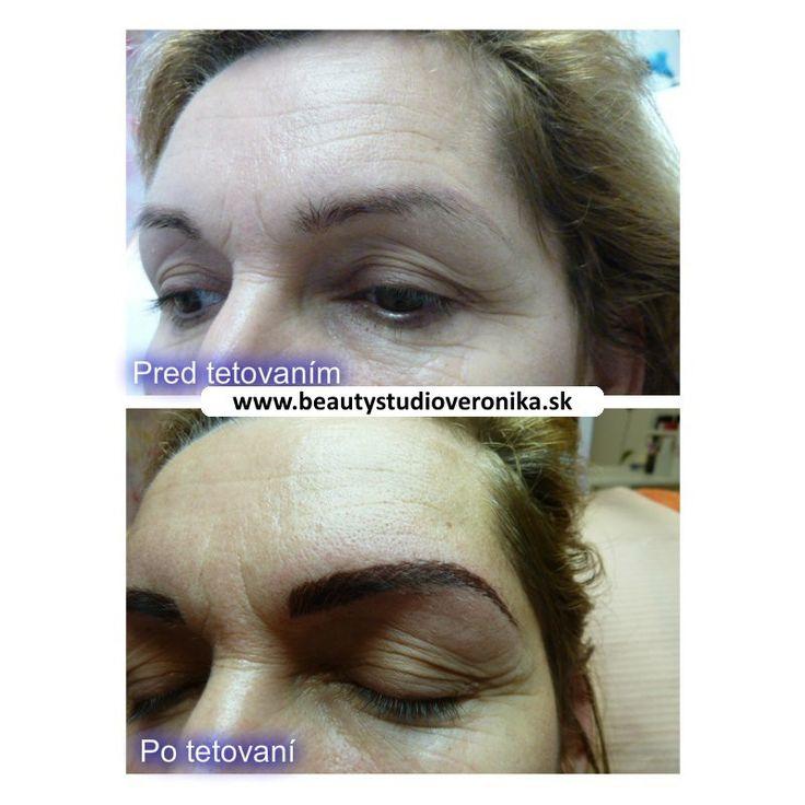 Akcia na permanentný make-up obočia čiarkovanou metódou zo 130€ na 80€. http://www.beautystudioveronika.sk/