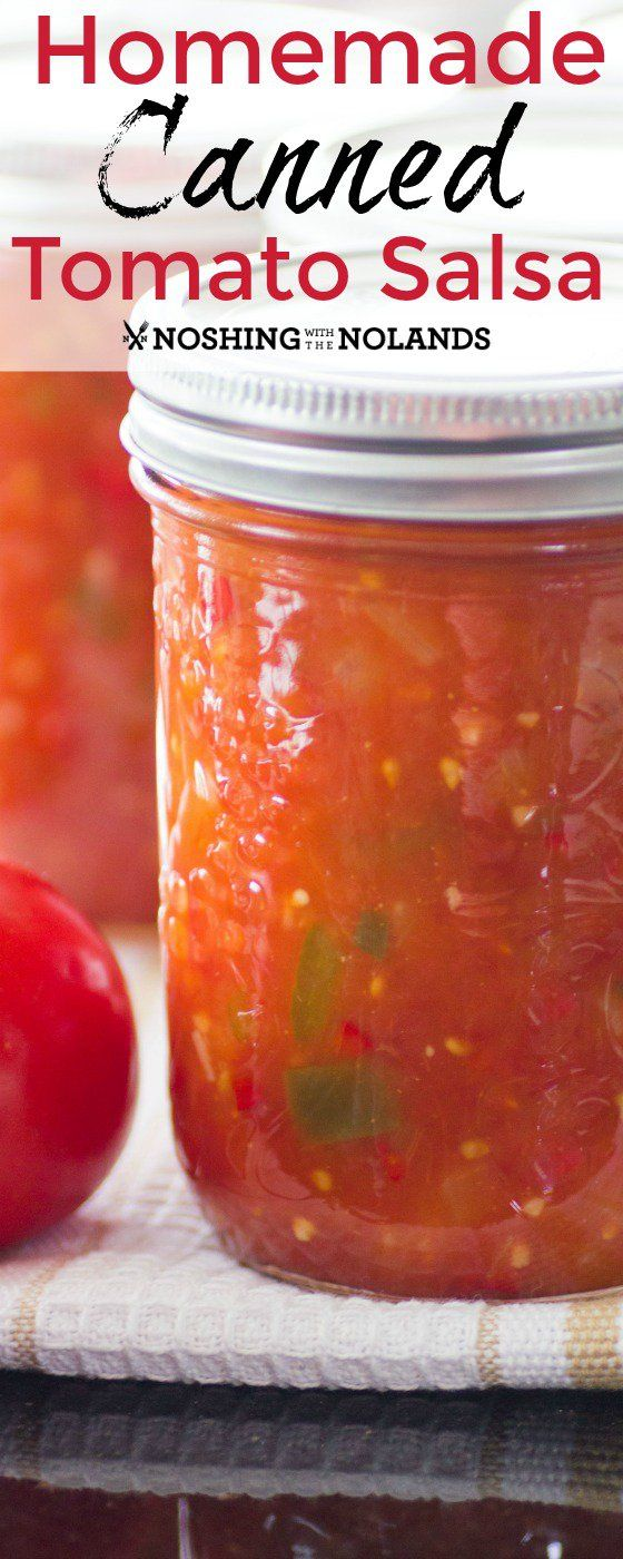 Homemade Canned Tomato Salsa by Noshing With The Nolands captures the fresh…