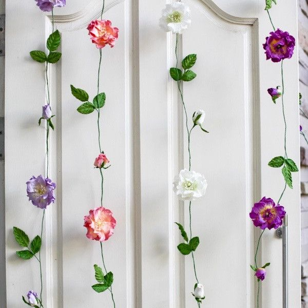 Paper flower hanging Garlands- Mixed Colours * IMPORTANT: Please note – Paper Flowers Australia