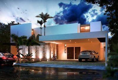 Fachadas de Casas Modernas: Lujosa Fachada de Casa moderna