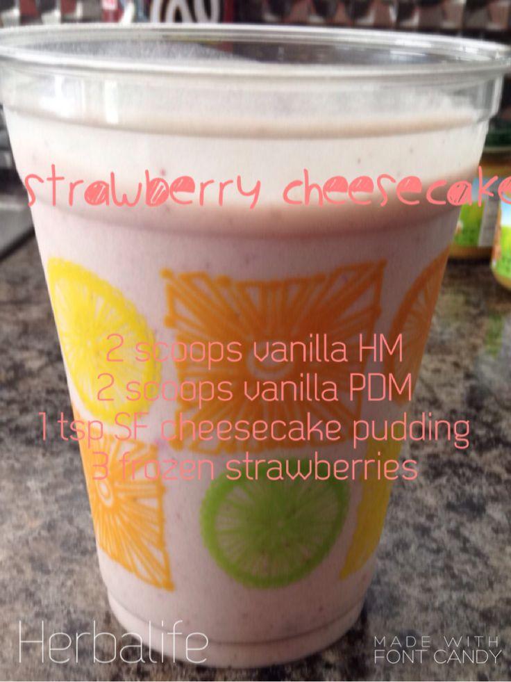 Herbalife strawberry cheesecake