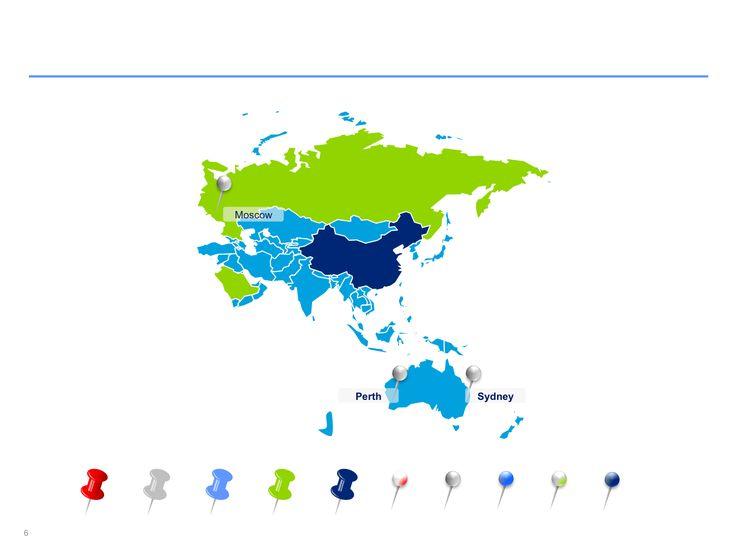 Mapas de Asia Pacífico editables en Power Point