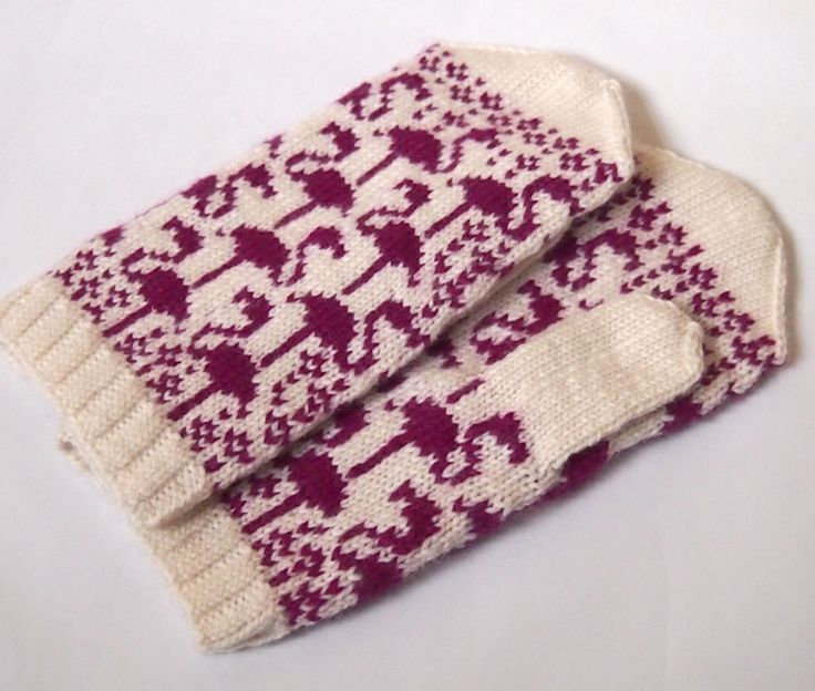 SewSew Knitted Mittens from SpillyJane pattern