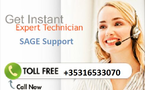 Sage technical supprt number Ireland - +353-16533070