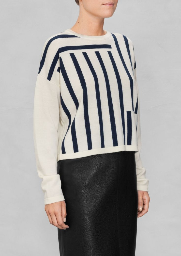 & Other Stories   Striped Wool Sweater