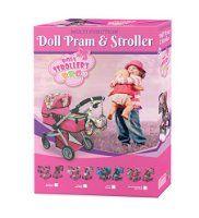 Like Bugaboo Deluxe Doll Stroller Purple & Pink