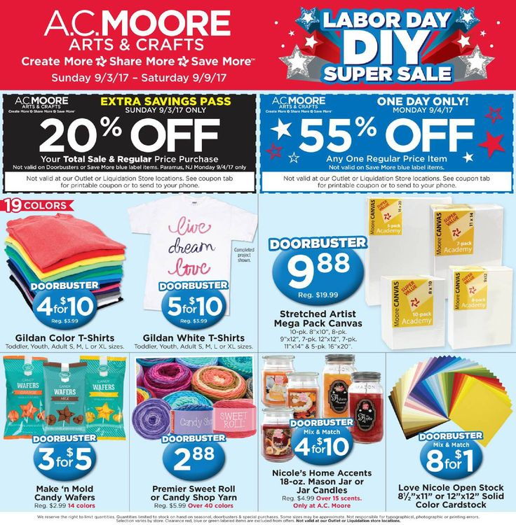 AC Moore Weekly Ad September 3 - 9, 2017 - http://www.olcatalog.com/home-garden/ac-moore-weekly-ad.html