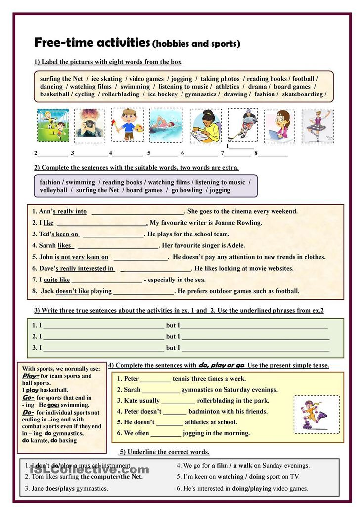 Resultat De Recherche D Images Pour Worksheets Lesson 4 Sporting Activities Free Time Activities Words Time Activities