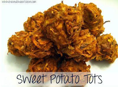 Sweet Potato Tots: Sweet Potato Tots, Clean Eating, Sweet Potatoes Tots, Tater Tots, Fit Diet, Fitness Diet, Potatoes Tater, Eating Recipes, Eating Clean