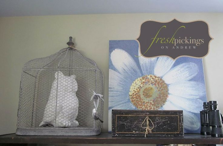 fresh picked Shelf Decor as styled by Debbie Z !