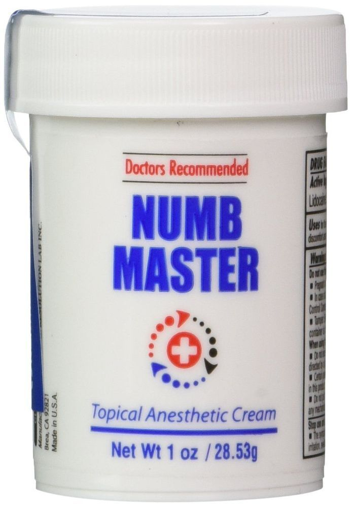 Numb Master 5% Topical Anesthetic Lidocaine Cream 1 Oz, Made in USA, Fast... #ClinicalResolutionLaboratoryInc