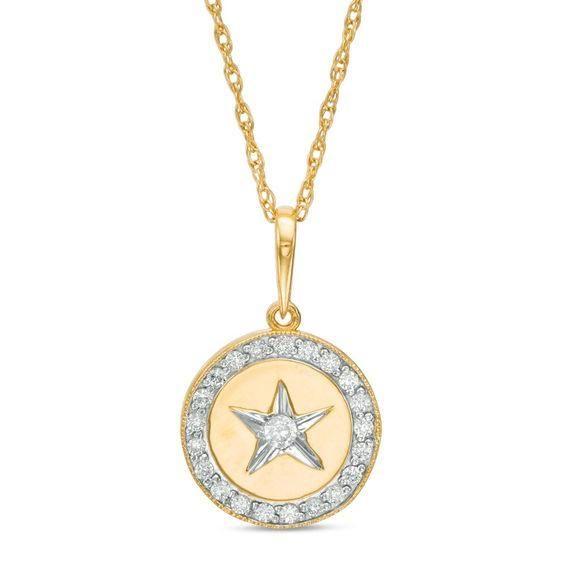 Zales 1/8 CT. T.w. Diamond Anchor Pendant in 10K White Gold L7phDAGHKF