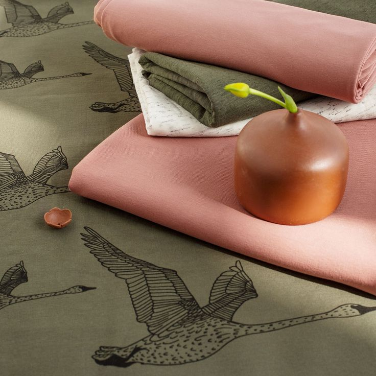 JOUTSEN, Olive - Black | Nosh.fi ENGLISH  | Get inspired by new NOSH fabrics for Summer 2017! Discover new colors and prints in quality organic cotton. Shop new fabrics at en.nosh.fi