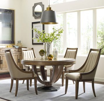 Evoke Round Dining Room Set | American Drew | Home Gallery Stores