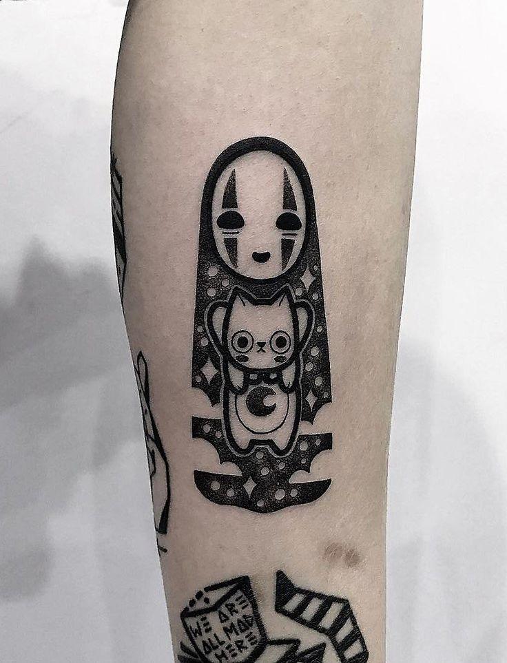 35 Cute Tattoo Designs by Hugo Tattooer - #tattoo #spiritedaway #cute #kawaii #anime #ghibli #studioghibli