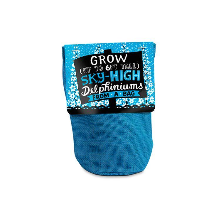 Planta en una bolsa de yute natural Lavanda
