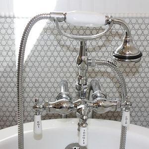 Gray Penny Tiles, Transitional, bathroom, Birds of a Feather Design