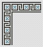 Decorative edge, embroidery, free cross stitch patterns and charts - www.free-cross-stitch.rucniprace.cz