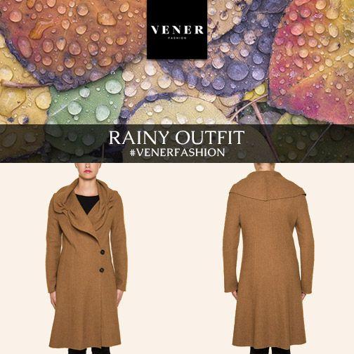 Στυλάτες και στη βροχή: Μακρύ γυναικείο παλτό με φαρδύ ντραπέ γιακά, σε ζεστό καμηλό χρώμα! camel color long coat female coat rainy days