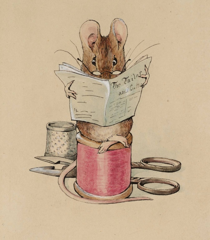Beatrix Potter 1902 - one of her beautiful illustrations ( 'The Tailor of Gloucester'!)